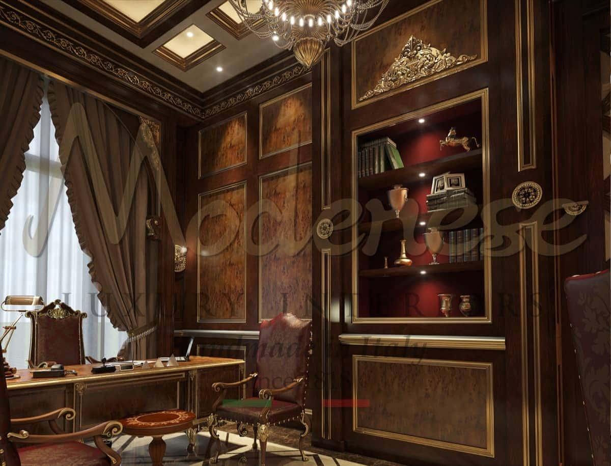 Проектировка и разработка с подбором материалов и деталей. Оформление личного кабинета в классическом стиле. Уникальный элегантный президентский личный кабинет на заказ от производителя итальянской высококачественной мебели.