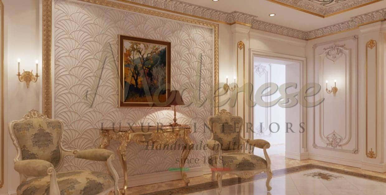 Роскошная мебель ручного производства, классический дизайн в стиле барокко, высокое качество, дорогие материалы, безупречный эксклюзивный стиль, проект дизайна интерьера виллы на заказ. Инкрустация дерева на заказ, рисунки на девере. Роскошная мебель класса премиум.