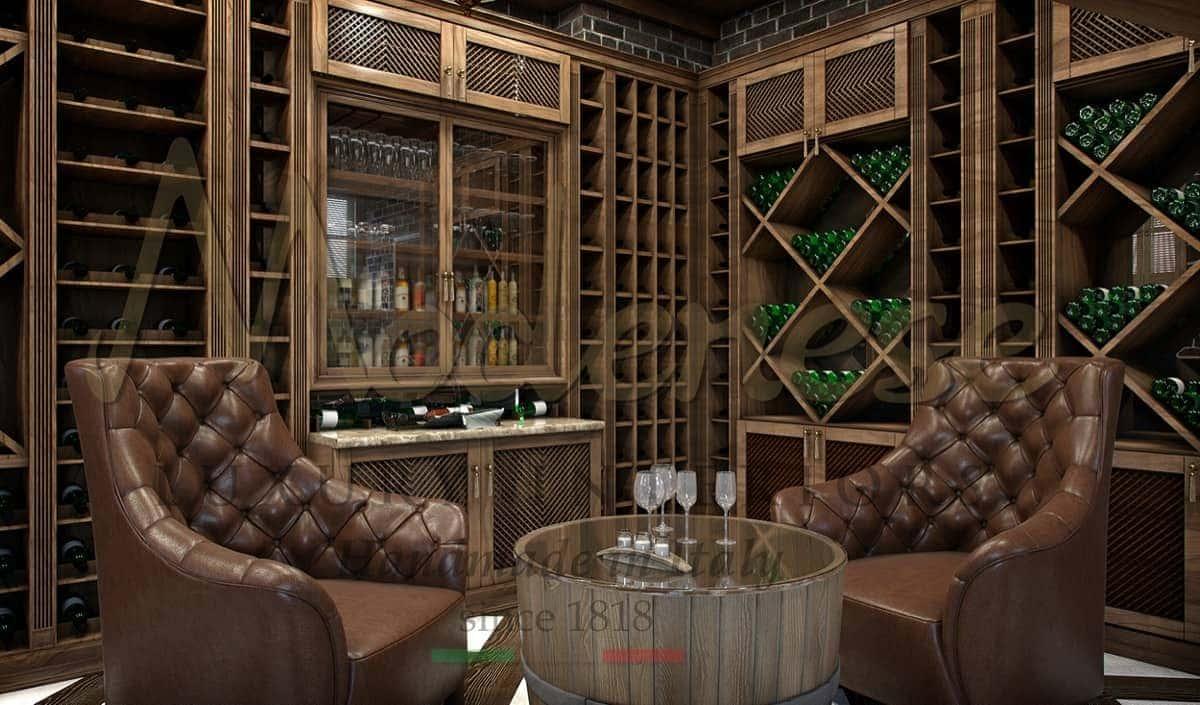 Элегантный стиль уникальный дизайн интерьеров винного погреба. На заказ от производителя высококачественной итальянской мебели из массива дерева. Уникальный безупречный дизайн, проектировка производство и оформление от Modenese Luxury Interiors. Самые роскошные итальянские проекты дизайна. Роскошные винодельни класса вип.