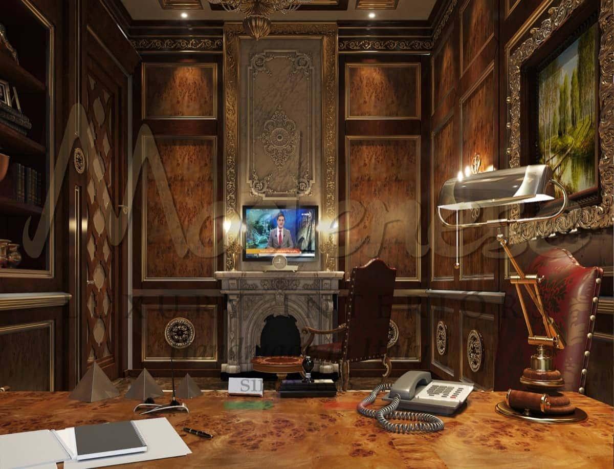 Офисы и личные кабинеты на заказ из массива дерева от производителя эксклюзивной итальянской мебели премиального качества. Роскошный дизайн, уникальные идеи и полная кастомизации. Оформление дизайна интерьеров от Modenese Luxury Interiors.
