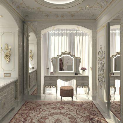 Mobilier de chambre à coucher sur mesure, de qualité supérieure. Intérieurs faits main en Italie. Projet de design d'intérieur sur mesure.