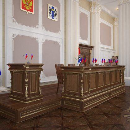 Matériaux haut de gamme et production de meubles de haute qualité, mobilier de bureau de direction fait main en bois massif, bureau élégant de style classique, intérieurs de luxe, projet de bureau fait main en bois massif.