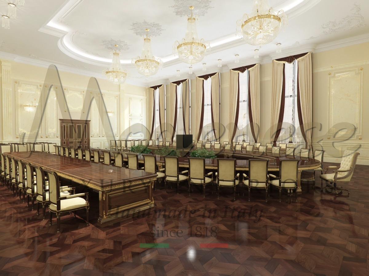 Элегантный офис в классическом стиле, роскошные интерьеры, проект офиса из массива дерева ручной работы. Сделанный на заказ офис с уникальным итальянским дизайном для проектов по всему миру, офисная мебель ручной работы из массива дерева.