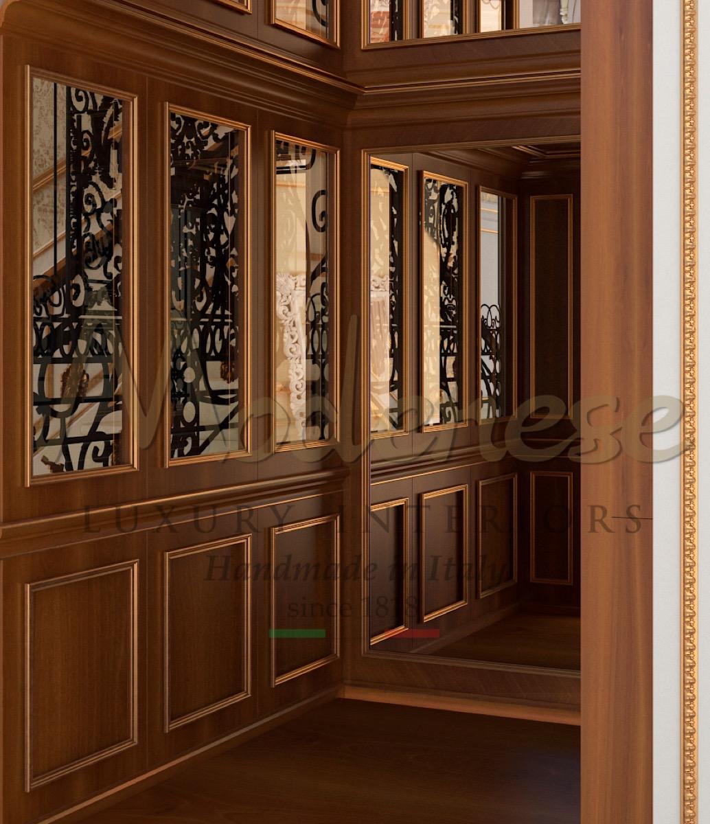 Bespoke interior design project and artisanal furniture production, refined majestic home decoration, amazing interior design classic villa, unique timeless elevator design, top lift designs.