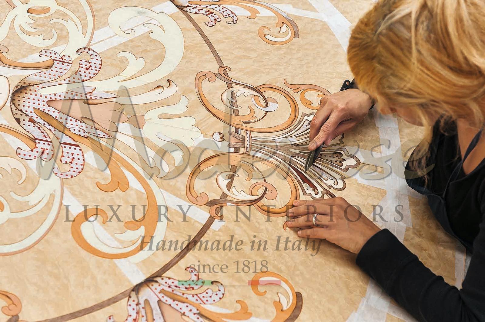 Сделано в Италии роскошная классическая мебель декор для дома инкрустация из массива дерева перламутр мрамор премиальные ткани элегантные материалы интерьер ручной работы индивидуальные интерьеры Radica кустарное производство