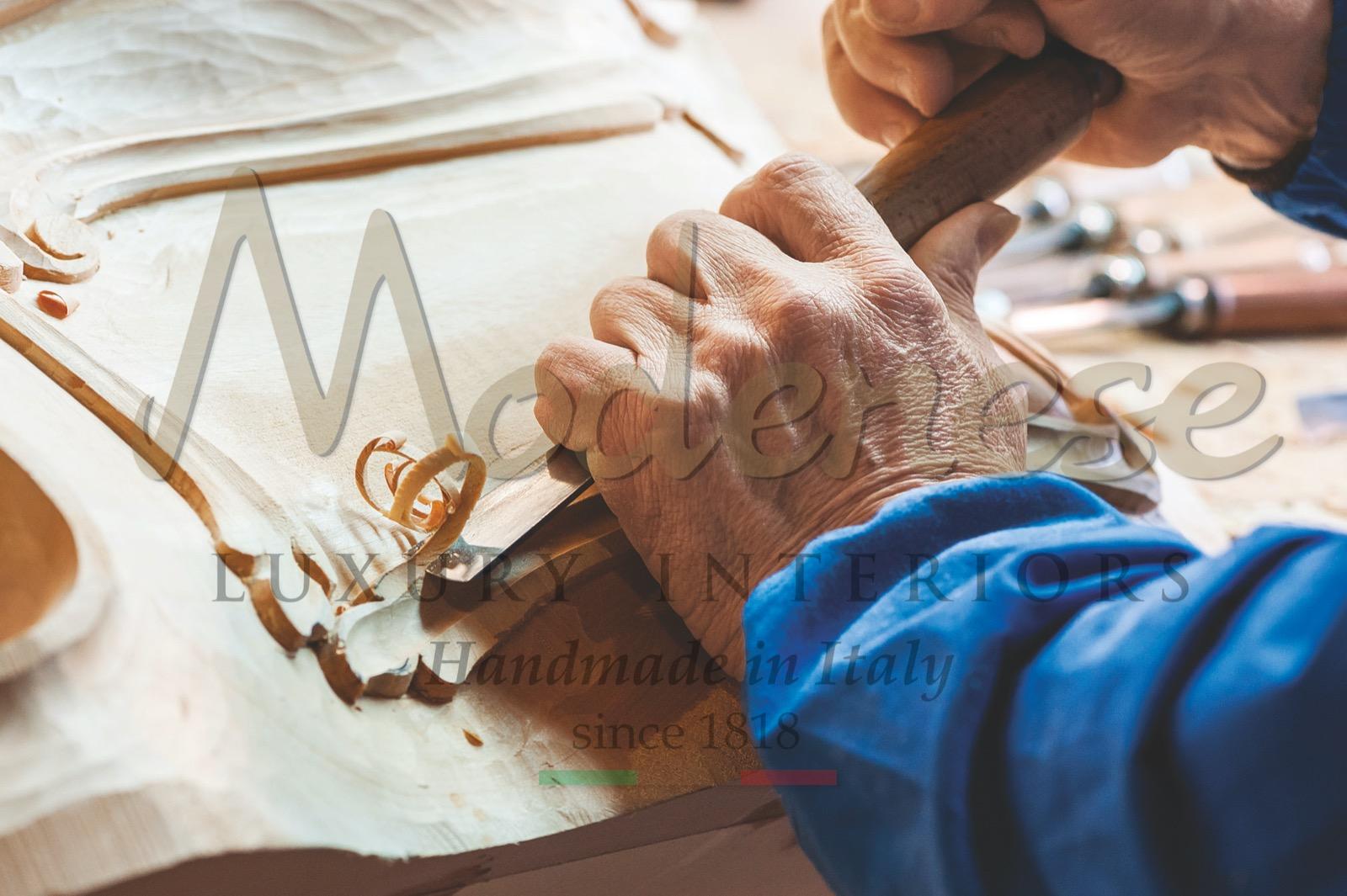 handmade furniture Italian production artisans artisanal skills craftsmanship made in Italy interior design projects home decoration