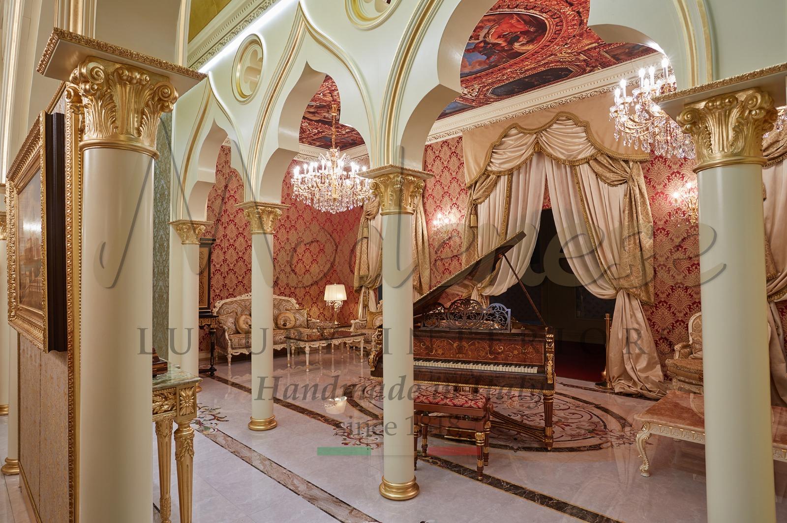 royal piano classic luxury Italian furniture handmade production manufacturing in Italy artisans artisanal skills craftsmanship salone del mobile design week
