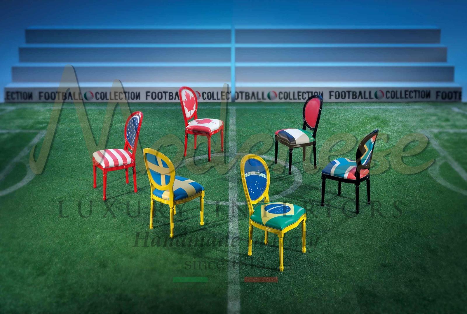 football team colors design armchair sofa cabinet stools entertainment luxury room Italian furniture championship