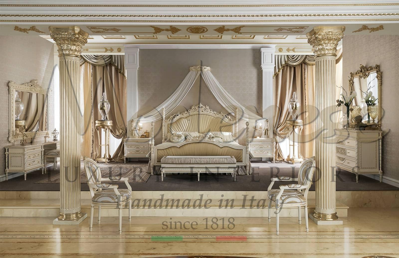хозяйственная спальня,роскошная итальянская мебель для королевской виллы, декор дома, роскошный интерьеры класса люкс, Людовик XVI, индивидуальные элегантные изысканные проекты, венецианский стиль, барокко, внимание к деталям, производство мебели ручной работы
