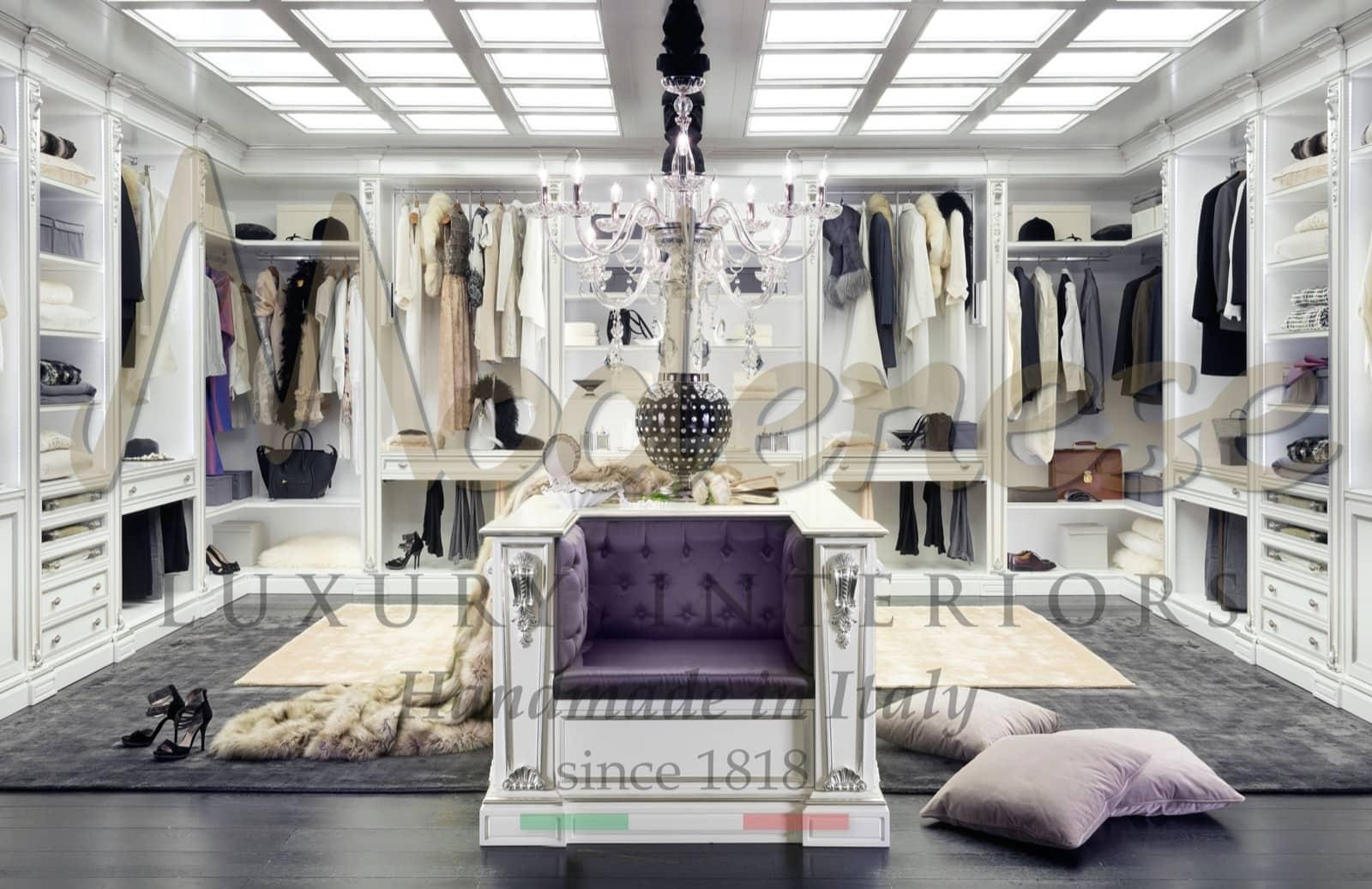 производство роскошной мебели ручной работы для вилл и дворцов с 1818 года, решения для меблировки гардеробных комнат в неоклассическом стиле Людовика XV