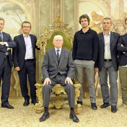Three generations of the Modenese family